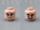 Part No: 3626cpb0815  Name: Minifigure, Head Dual Sided LotR Bushy Black Eyebrows, Dark Orange Scars, Stern / Open Mouth with Teeth Pattern - Hollow Stud