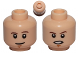 Part No: 3626cpb0826  Name: Minifigure, Head Dual Sided Brown Eyebrows, White Pupils, Smile / Open Mouth Angry Pattern (SW Luke Skywalker) - Hollow Stud