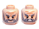 Part No: 3626cpb0835  Name: Minifigure, Head Dual Sided LotR Beard Gray Full, Bushy Eyebrows and Wrinkles, Calm / Battle Rage Pattern (Dori) - Hollow Stud