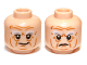 Part No: 3626cpb0866  Name: Minifigure, Head Dual Sided LotR Bushy Gray Eyebrows, Wrinkles, Calm / Frowning Pattern (Balin) - Hollow Stud