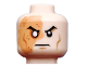 Part No: 3626cpb0899  Name: Minifigure, Head Male Right Eye Scarred Area and No Pupil, Determined Pattern (Shredder) - Hollow Stud