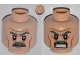 Part No: 3626cpb0929  Name: Minifigure, Head Dual Sided Gray Moustache, Thick Eyebrows and Wrinkles, Frowning / Angry Pattern - Hollow Stud