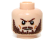 Part No: 3626cpb0942  Name: Minifigure, Head Beard Brown, Furrowed Brow Pattern - Hollow Stud