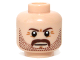 Part No: 3626cpb0943  Name: Minifigure, Head Beard Stubble, Moustache, Brown Eyebrows Pattern - Hollow Stud