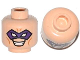 Part No: 3626cpb1097  Name: Minifigure, Head Male Purple Eye Mask with Eye Holes, Forehead Lines and Open Mouth Smile with Teeth Pattern (The Riddler) - Hollow Stud