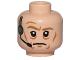 Part No: 3626cpb1136  Name: Minifigure, Head Male Dark Tan Eyebrows, Wrinkles and Headset Pattern (SW General Veers) - Hollow Stud