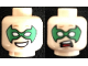 Part No: 3626cpb1194  Name: Minifigure, Head Dual Sided Male Green Eye Mask with Eye Holes, Smile / Scared Pattern (Robin) - Hollow Stud