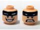 Part No: 3626cpb1234  Name: Minifigure, Head Dual Sided Black Headband with Squinted Batman Eyes, Smile / Scared Pattern - Hollow Stud