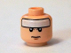 Part No: 3626cpb1259  Name: Minifigure, Head Male White Strip on Forehead and Brown Chin Dimple Pattern (Comic Con Batman) - Hollow Stud