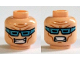 Part No: 3626cpb1272  Name: Minifigure, Head Dual Sided Medium Blue Goggles, Smile with Teeth / Clenched Teeth Pattern (Captain Cold) - Hollow Stud