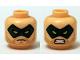 Part No: 3626cpb1276  Name: Minifigure, Head Dual Sided Male Dark Green Eye Mask with Eye Holes, Stubble Beard, Serious / Bared Teeth Pattern (Green Arrow) - Hollow Stud