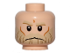 Part No: 3626cpb1365  Name: Minifigure, Head Tan Eyebrows and Beard, Cheek Lines and Frown Pattern (SW Rebel Trooper) - Hollow Stud