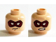Part No: 3626cpb1386  Name: Minifigure, Head Dual Sided Dark Red Eye Mask with White Eye Holes, Closed Mouth / Bared Teeth Pattern (Arsenal) - Hollow Stud