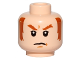 Part No: 3626cpb1433  Name: Minifigure, Head Dark Orange Eyebrows and Sideburns, White Pupils, Frown Pattern (SW General Hux) - Hollow Stud