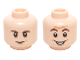 Part No: 3626cpb1461  Name: Minifigure, Head Dual Sided Dark Brown Eyebrows, Chin Dimple with Smile / Open Mouth Smile Pattern (Sheldon Cooper) - Hollow Stud