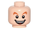 Part No: 3626cpb1559  Name: Minifigure, Head Dark Orange Raised Eyebrows, Open Mouth Smile with Teeth and Tongue Pattern (Peter Pan) - Hollow Stud