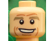 Part No: 3626cpb1607  Name: Minifigure, Head Dark Tan Eyebrows, White Pupils, Chin Dimple, Cheek Lines, Open Smile Pattern (Thomas Müller) - Hollow Stud