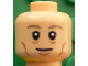 Part No: 3626cpb1610  Name: Minifigure, Head Dark Tan Eyebrows, White Pupils, Eye Bags, Chin Dimple and Cheek Lines Pattern (Toni Kroos) - Hollow Stud