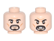 Part No: 3626cpb1642  Name: Minifigure, Head Dual Sided Black Eyebrows, Black and White Goatee, Wrinkles and Cheek Lines, Neutral / Angry Pattern - Hollow Stud