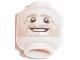 Part No: 3626cpb1666  Name: Minifigure, Head Dark Tan Eyebrows, White Pupils, Dark Tan Stubble, Open Smile Pattern (Benedikt Höwedes) - Hollow Stud