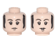 Part No: 3626cpb1683  Name: Minifigure, Head Dual Sided Black Eyebrows and Sideburns, Chin Dimple, Neutral / Smiling Pattern (Paul) - Hollow Stud