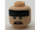 Part No: 3626cpb1712  Name: Minifigure, Head Black Headband with Squinted Batman Eyes, Open Mouth Pattern - Hollow Stud