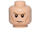 Part No: 3626cpb1752  Name: Minifigure, Head Male Dark Tan Eyebrows, White Pupils, Cheek Lines, Frown Pattern (SW Director Krennic) - Hollow Stud