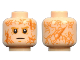 Part No: 3626cpb1840  Name: Minifigure, Head Male Scars Front and Back, White Pupils, Black Thin Mouth Pattern - Hollow Stud