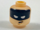 Part No: 3626cpb1946  Name: Minifigure, Head Black Headband with Squinted Batman Eyes, Worried Pattern - Hollow Stud