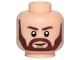 Part No: 3626cpb1969  Name: Minifigure, Head Beard with Dark Brown Eyebrows, Angular Beard, Smile and White Pupils Pattern - Hollow Stud