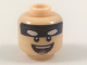 Part No: 3626cpb1979  Name: Minifigure, Head Black Headband with White Batman Eyes, Open Mouth Smile Pattern - Hollow Stud