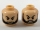 Part No: 3626cpb1994  Name: Minifigure, Head Dual Sided Black Eyebrows and Beard, Firm / Angry Expression Pattern - Hollow Stud