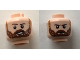 Part No: 3626cpb2068  Name: Minifigure, Head Dual Sided Male Reddish Brown Eyebrows, Reddish Brown Beard, Open Smile/Frown Pattern - Hollow Stud