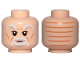 Part No: 3626cpb2098  Name: Minifigure, Head White Bushy Eyebrows, Beard and Wrinkles Pattern (SW Ki-Adi-Mundi) - Hollow Stud