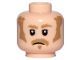 Part No: 3626cpb2101  Name: Minifigure, Head Dark Tan Bushy Eyebrows, Sideburns and Moustache Pattern - Hollow Stud