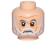 Part No: 3626cpb2127  Name: Minifigure, Head White Gray Eyebrows, Gray and White Beard and Wrinkles Pattern -  Hollow Stud