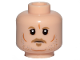 Part No: 3626cpb2132  Name: Minifigure, Head Dark Tan Eyebrows, Moustache, Goatee, Gray and Orange Stubble, Cheek Lines and Chin Dimple Pattern (SW Tobias Beckett) - Hollow Stud