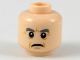 Part No: 3626cpb2156  Name: Minifigure, Head Dark Bluish Gray Eyebrows, Dark Orange Crow's Feet and Jowel Lines, Frowning Mouth Pattern - Hollow Stud