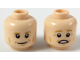 Part No: 3626cpb2211  Name: Minifigure, Head Dual Sided Medium Nougat Eyebrows and Contour Lines, Smile / Scared Pattern - Hollow Stud