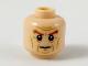 Part No: 3626cpb2223  Name: Minifigure, Head Dark Orange Bushy Eyebrows, Medium Dark Flesh Facial Lines Pattern - Hollow Stud