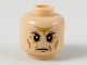Part No: 3626cpb2224  Name: Minifigure, Head Dark and Light Bluish Gray Eyebrows, Dark Tan Facial Lines Pattern - Hollow Stud
