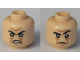 Part No: 3626cpb2261  Name: Minifigure, Head Dual Sided Black Eyebrows, Eyes with Pupils, Wrinkles, Open Mouth / Closed Mouth Angry Pattern (Severus Snape Boggart) - Hollow Stud