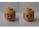 Part No: 3626cpb2349  Name: Minifigure, Head Dual Sided Medium Nougat Sideburns, Moustache, and Stubble, Smile / Scared Pattern (Owen Grady) - Hollow Stud