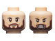 Part No: 3626cpb2414  Name: Minifigure, Head Dual Sided Dark Brown Eyebrows and Beard, Neutral / Fierce Pattern - Hollow Stud