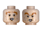 Part No: 3626cpb2437  Name: Minifigure, Head Dual Sided Crow's Feet,  Bushy Eyebrows and Rodent Teeth Pattern (Peter Pettigrew) - Hollow Stud