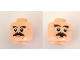 Part No: 3626cpb2477  Name: Minifigure, Head Dual Sided Dark Brown Bushy Eyebrows, Moustache, Silver Round Glasses, Open Mouth / Shocked Pattern - Hollow Stud