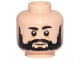 Part No: 3626cpb2486  Name: Minifigure, Head Beard Black Full, Black Eyebrows, White Pupils, Medium Nougat Lines Under Eyes and Chin Pattern - Hollow Stud
