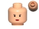 Part No: 3626cpx83  Name: Minifigure, Head Female with Red Lips, Small Eyebrows, Small Eyes Pattern - Hollow Stud