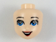 Part No: 36307  Name: Mini Doll, Head Friends with Blue Eyes, Red Lips and Open Mouth Pattern (Disney Ariel)