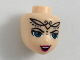 Part No: 36901  Name: Mini Doll, Head Friends with Dark Turquoise Eyes, Open Mouth Smile and Elves Tribal Pattern (Noctura)